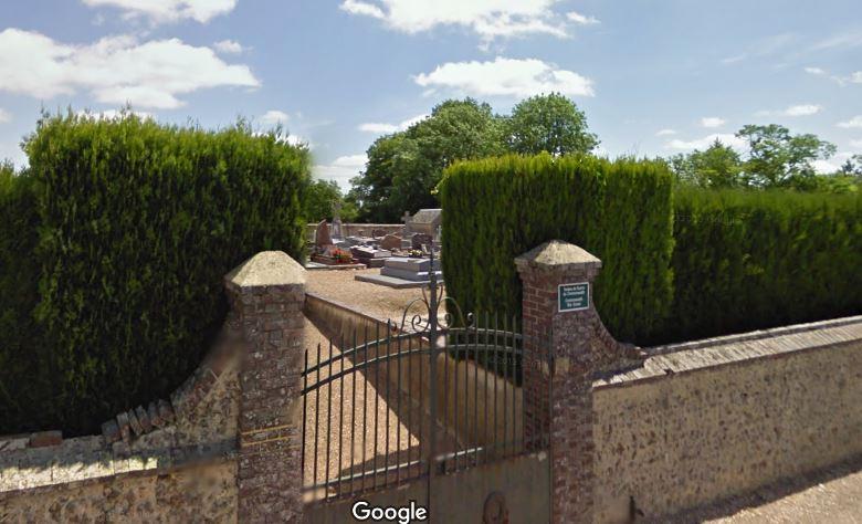 L'entrée du cimetière de Laons