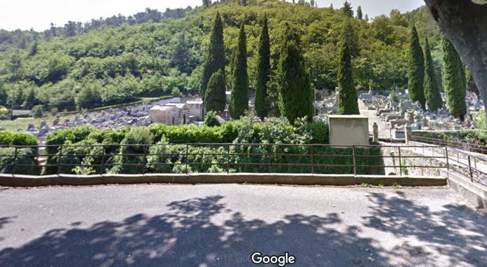 L'entrée du cimetière de Graissessac